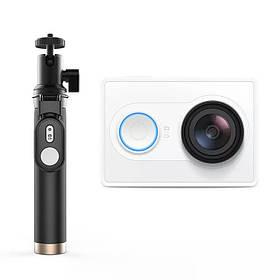 Экшн-камера Xiaomi Yi  Action Camera white EU Version + Yi Selfie Stick (монопод) + блютуз