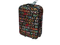 Яркий тканевый чемодан большого размера на 2-х колесах David Jones 4008