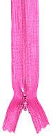 Молния потайная Темно розовая 50см пластиковая неразъемная спираль