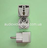 Переходник  для трехконтактной английской электрической вилки