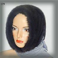 Меховой платок из норки (ирис)