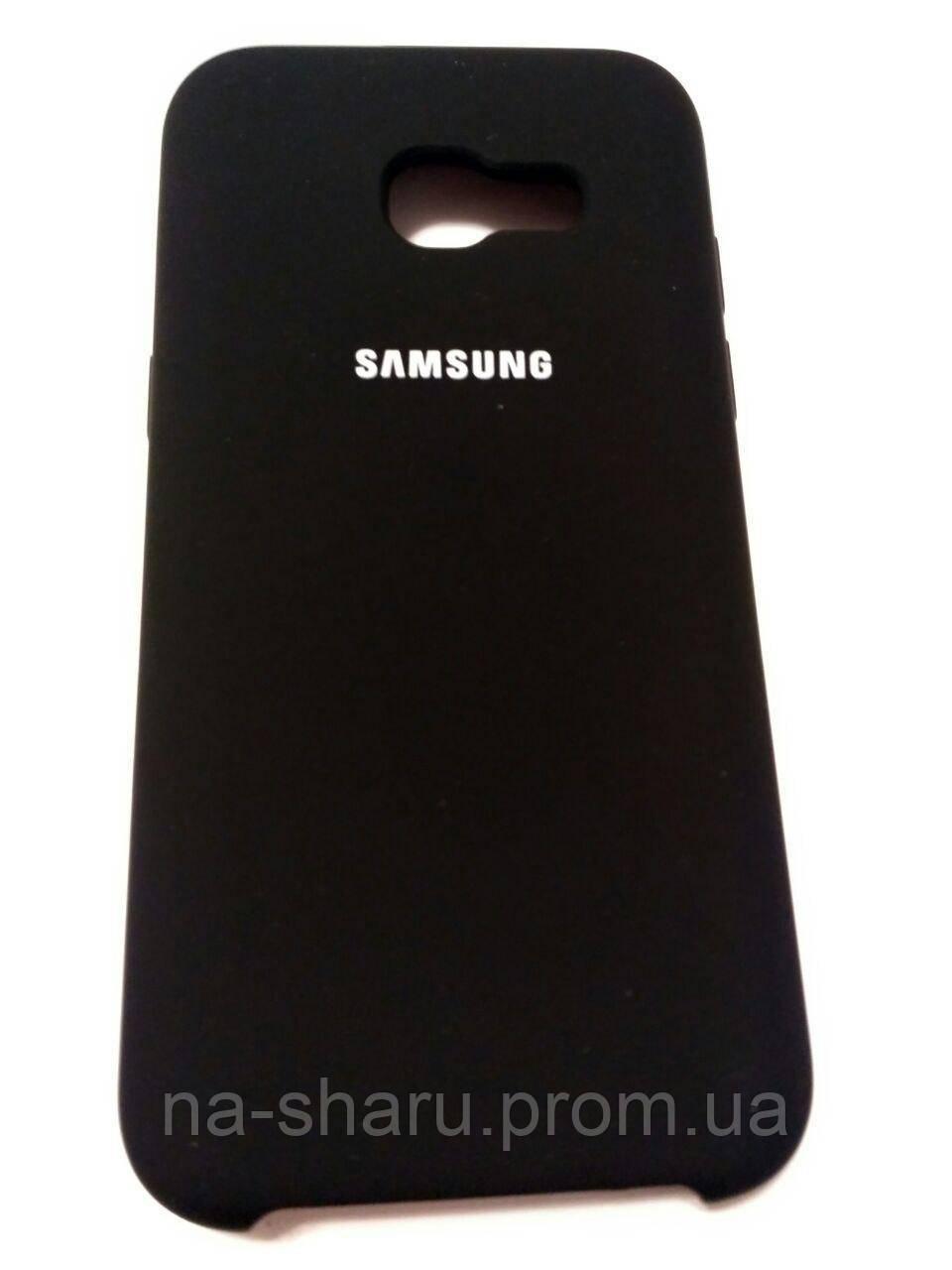 cheaper ada34 9b545 Original silicone case for Samsung A5 2017 ) Black (чёрный)