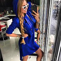 Платье-худи Doratti вязка хлопок с акрилом разные цвета SMdor1299, фото 1