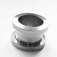 Тоннель, диаметр 12 мм, для пирсинга ушей. Медицинская сталь. (цена за 1 шт.), фото 1
