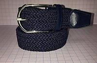 Ремень плетенка синего цвета