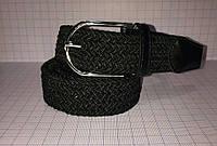 Ремень плетенка черного цвета
