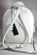 115-XL Натуральная кожа РАЗМЕР XL Городской рюкзак Кожаный рюкзак белый Рюкзак женский белый кожаный, фото 2