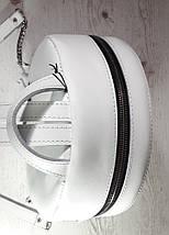 115-XL Натуральная кожа РАЗМЕР XL Городской рюкзак Кожаный рюкзак белый Рюкзак женский белый кожаный, фото 3