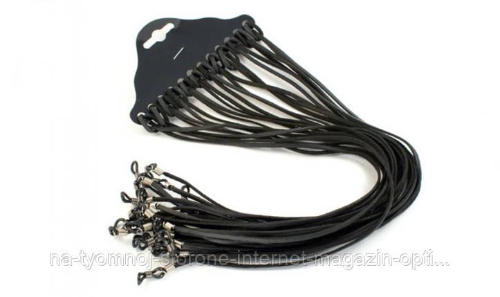 Шнурки для очков замшевые черные, фото 2