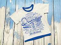 Детская футболка с принтом 1987 (белая)