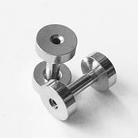 Тоннель диаметр 2 мм для пирсинга ушей (медицинская сталь).(цена за 1шт), фото 1