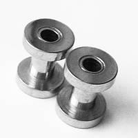 Тоннель 4 мм для украшения пирсинга ушей (медицинская сталь)(цена за 1шт)