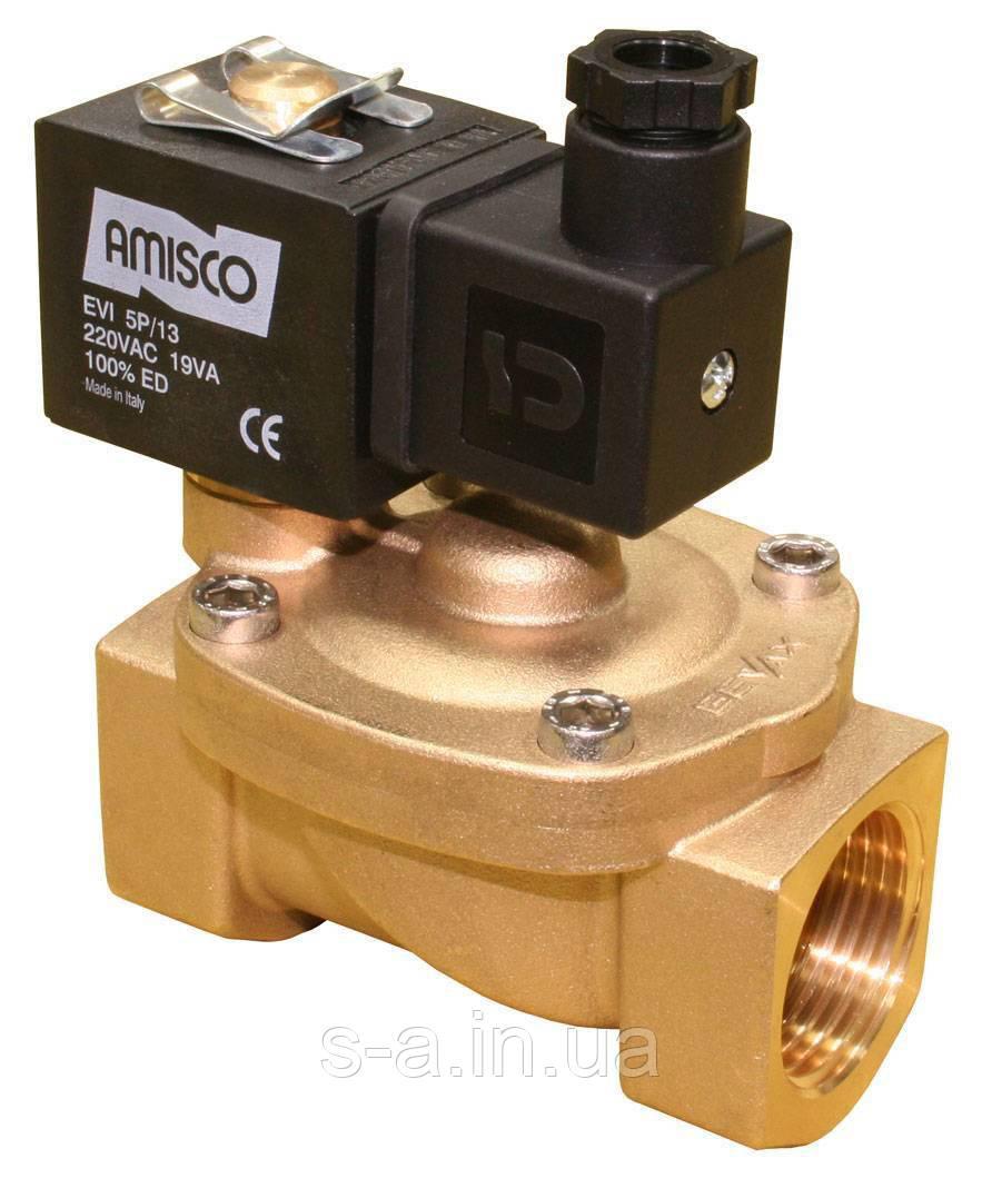 Клапан электромагнитный 1901-KBNF016-250 1 дюйм (с катушкой и разъемом) вода, воздух, пар GEVAX