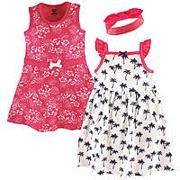 """Набор два детских платья и повязка """"Тропики"""" 6/9 мес. от Hudson Baby (США)"""