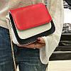 Модная двухцветная сумка-сундук на цепочке, цвета в наличии