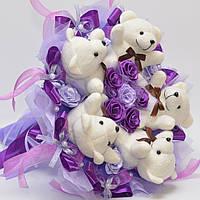 Букет из игрушек №86 (девушке, для детей, на день рождения) Оригинальный подарок