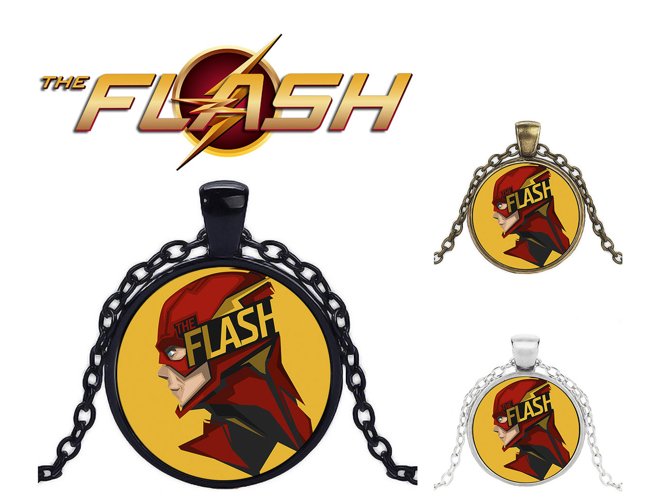 Кулон с изображением супергероя Flash Флэш DC комиксы