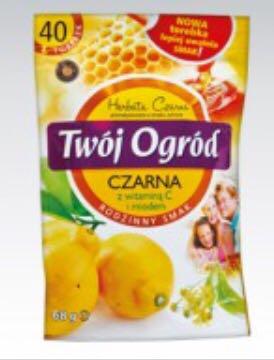 Чай Twoi Ogrod Czarna z vitaminom C 40 пакетов, фото 2