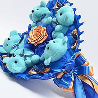 Букет из игрушек №74 Оригинальный подарок на 14 февраля, 8 марта, на день рождения
