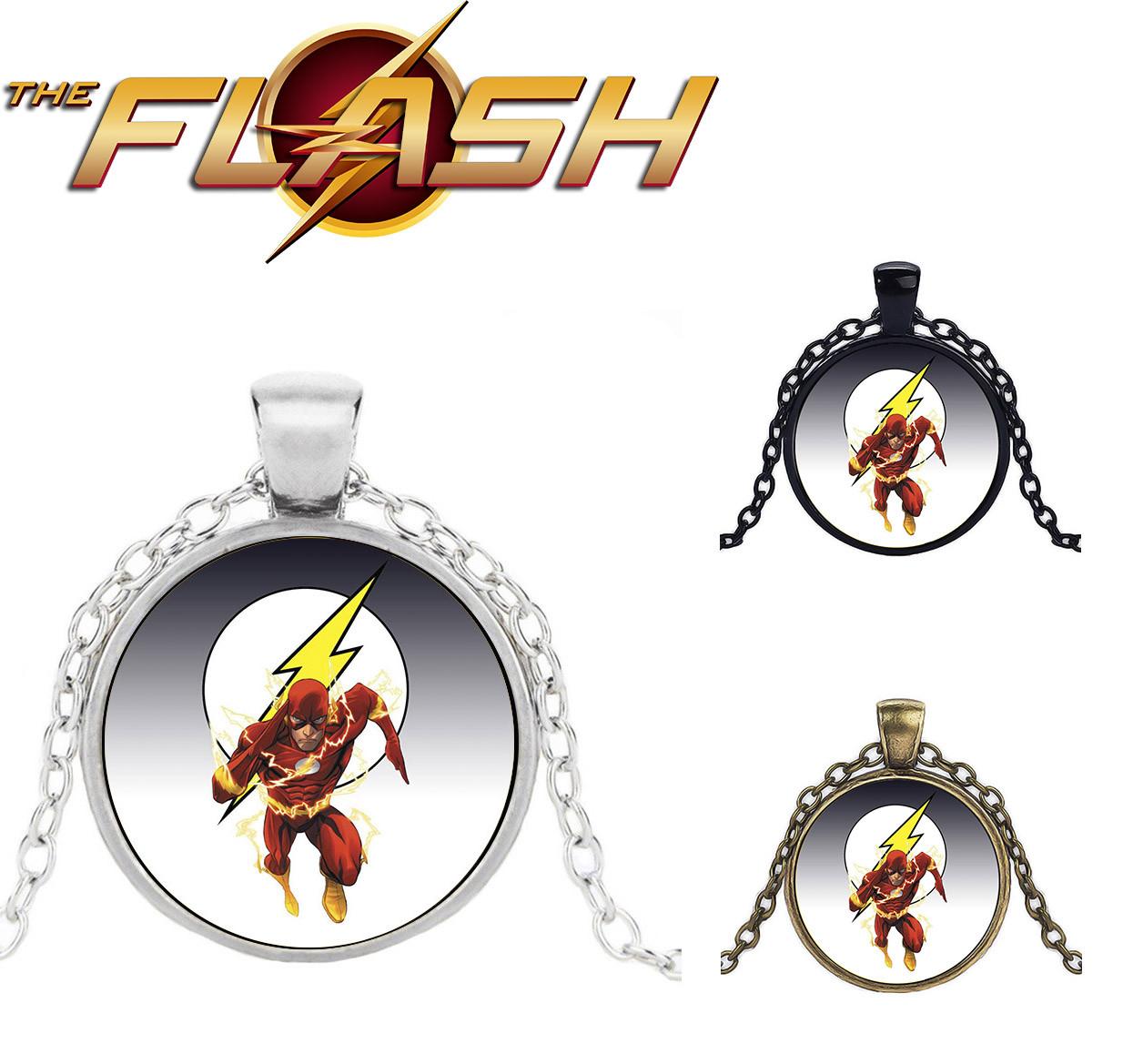 Кулон с изображением супергероя и логотипа Flash Флэш DC комиксы