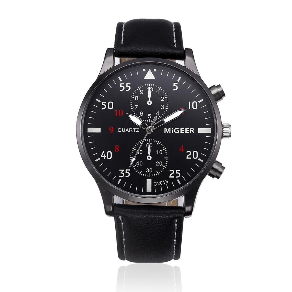 Мужские часы MiGEER с черным ремешком