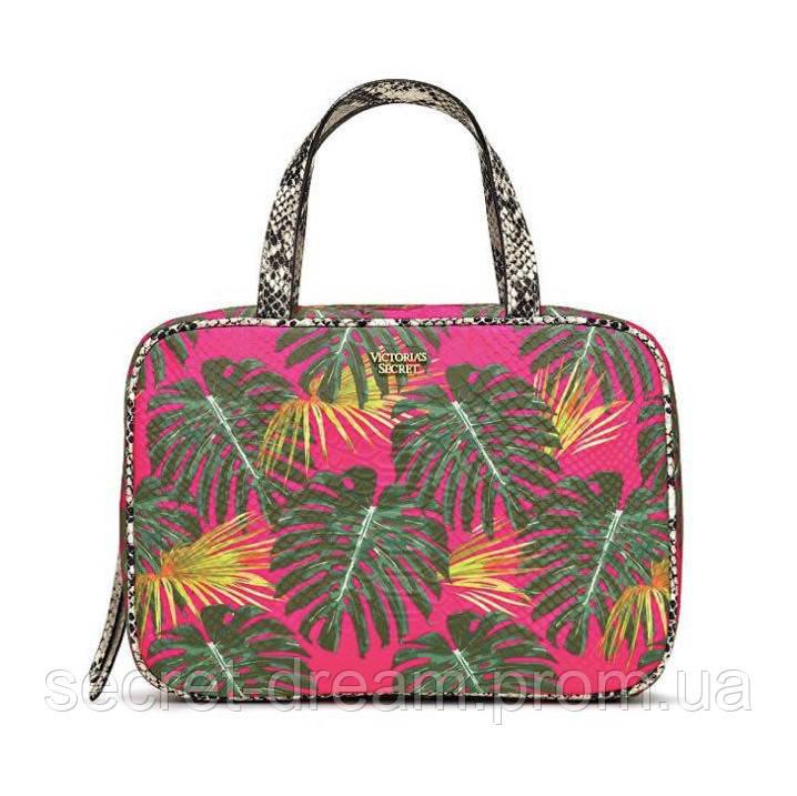 Тревел кейс Victoria's Secret Hot Tropic Jetsetter Travel Case Pink Palm