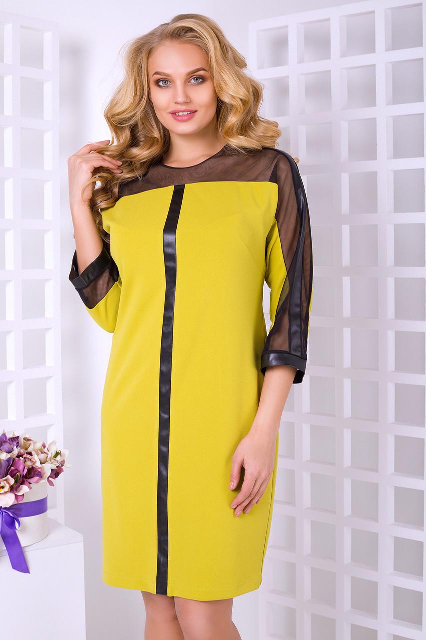 Стильное платье с 50 по 58 размеры 2цвета
