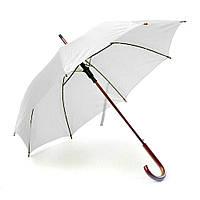 Зонт-трость классический 190Т полуавтомат, Белый от 10 шт