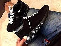 Женские кроссовки из натуральной замши, фото 1