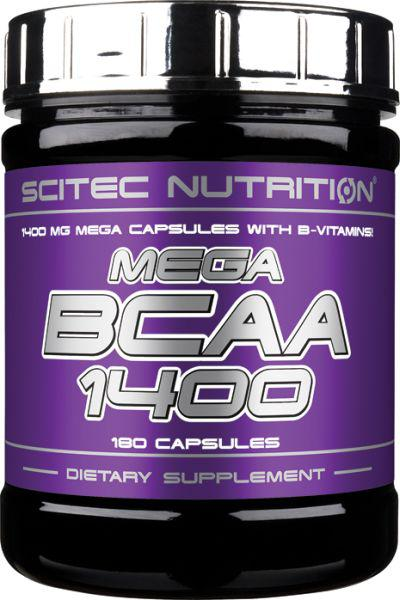Scitec Nutrition Mega BCAA 1400 (180 таб) скайтек мега бцаа