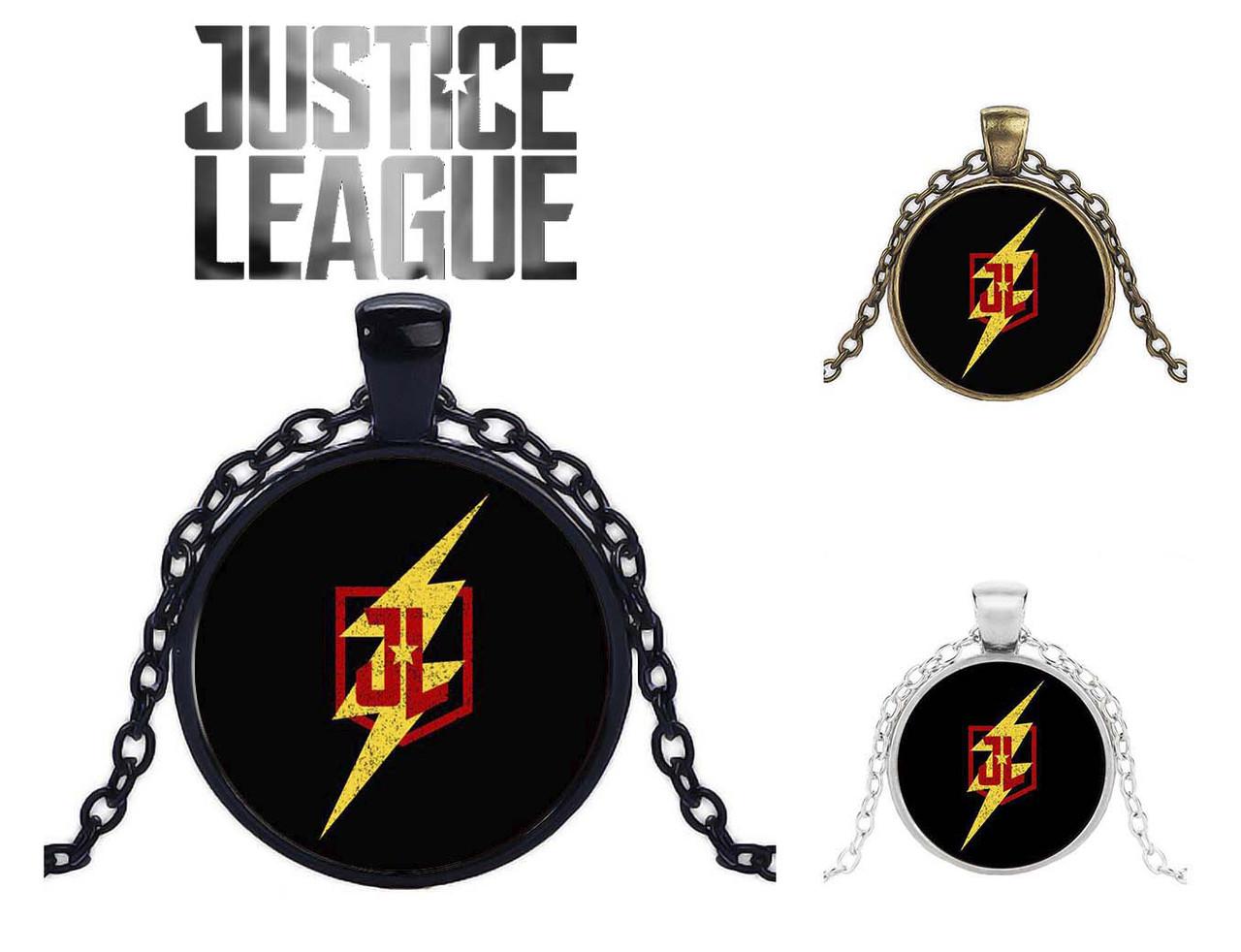 Кулон с изображением логотипа Justice League Лига Справедливости DC комиксы