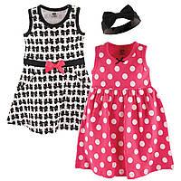 """Набор два детских платья и повязка 1,5/2 года """"Бантик"""" от Hudson Baby (США)"""