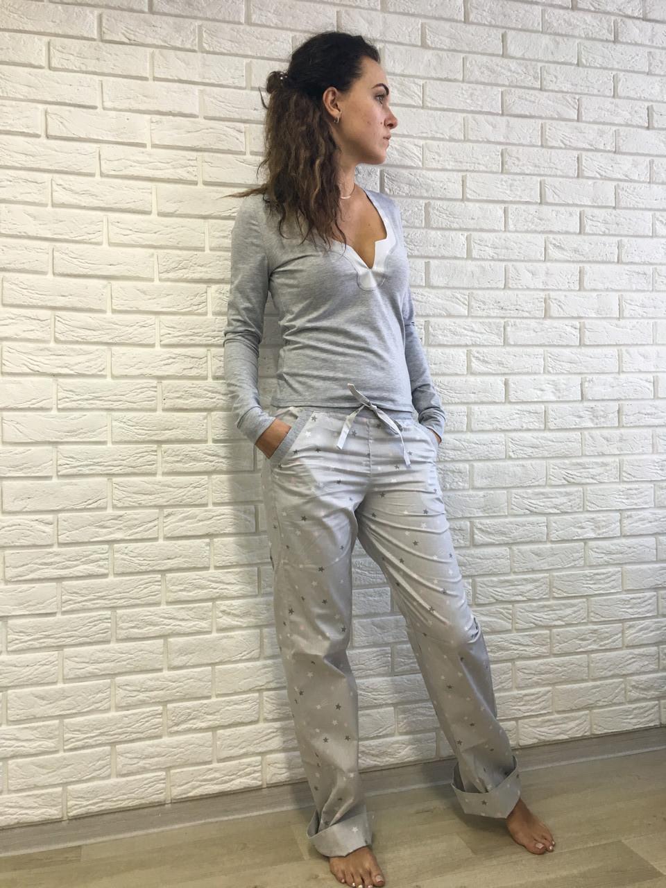 d464e2875803 Женский домашний костюм S M L XL, серая со звездами, хлопок - econommama в  Харькове