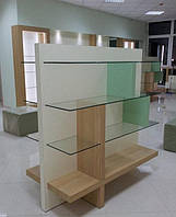 Стеллажи островные, витрина островная, торговая мебель, стенд демонстрационный, фото 1