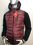 Мужская куртка Reebok трансформер с отстежными трикотажными рукавами копия , фото 2