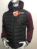 Мужская куртка Reebok трансформер с отстежными трикотажными рукавами копия , фото 4