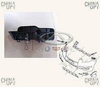 Направляющая переднего бампера, правая, пластик, Geely EX7[2.4,X7], 1018010266, Aftermarket