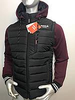 Мужская куртка Reebok трансформер с отстегивающимися трикотажными рукавами копия