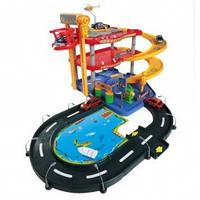 Игровой набор - ГАРАЖ (3 уровня, 2 машинки 1:43) - под заказ