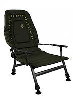 Кресло карповое Elektrostatyk FK2 с подлокотниками и регулируемой спинкой (до 120 кг)
