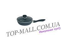 Сковорода антипригарная Maestro - 240 мм с крышкой [MR-1205-24]