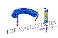 ✅ Шланг спиральный Mastertool - 20 м x 8 x 12 мм, полиуретановый