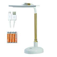 Настольная лампа LED LAMP LD-904 (USB + 4 батарейки ААА) White-gold