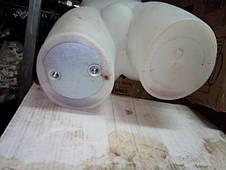 Манекен торс пластиковый, мужской с креплениями, белый, фото 2