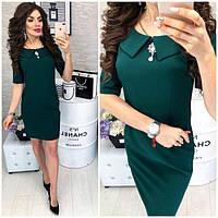Платье женское, модель 811, темно-зеленого цвета (бутылка)