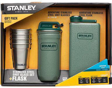 Набор Stanley Adventure (4 рюмки+ фляга 0.236L), зеленый (ST-10-01883-002), США