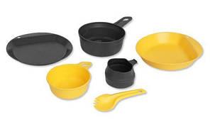 Набор посуды Wildo Explorer Kit Lemon/Dark Grey  (67233), Швеция
