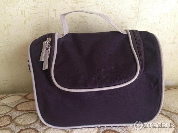 Косметичка фиолетовая в горошек с ручкой ив роше сумочка сумка