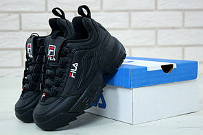 Женские кроссовки в стиле FILA Disruptor All Black (37, 38, 39, 41 размеры), фото 3
