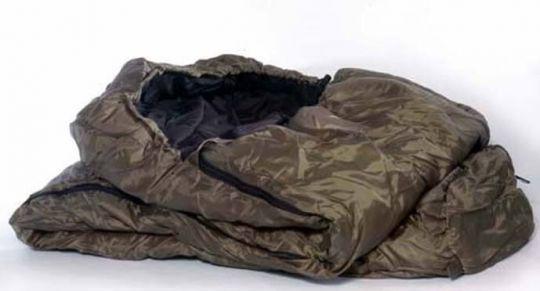 Спальный мешок Mil-Tec 2-слойный Mummy (OD) Olive (до-10) с чехлом  (14110001)